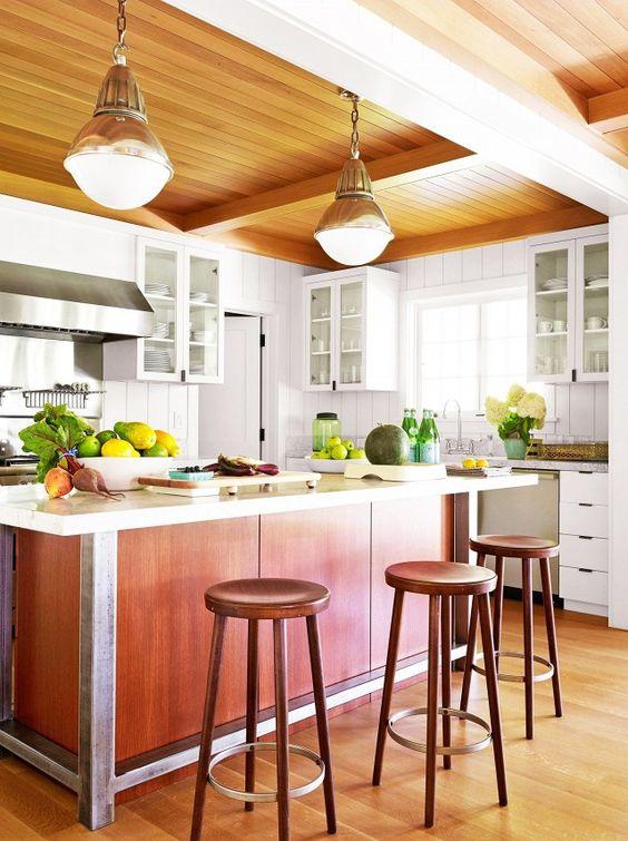 a cheery kitchen