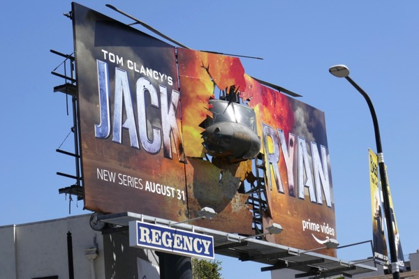 Jack Ryan 3D crashed helicopter billboard