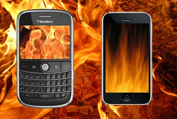 How To Prevent Your Smartphone From Over Heating,image of two mobile phones,