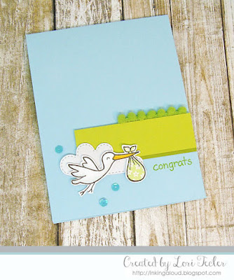 Baby Congrats card-designed by Lori Tecler/Inking Aloud-stamps from Lawn Fawn