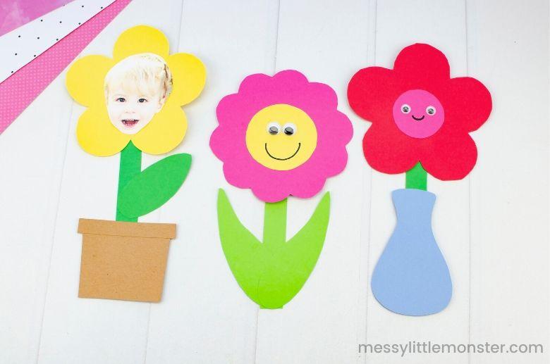 printable flower template for flower craft