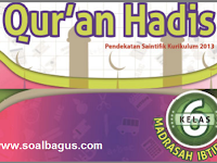 Soal PTS Kelas 6 MI Qur'an Hadist Semester 1 Th. 2019