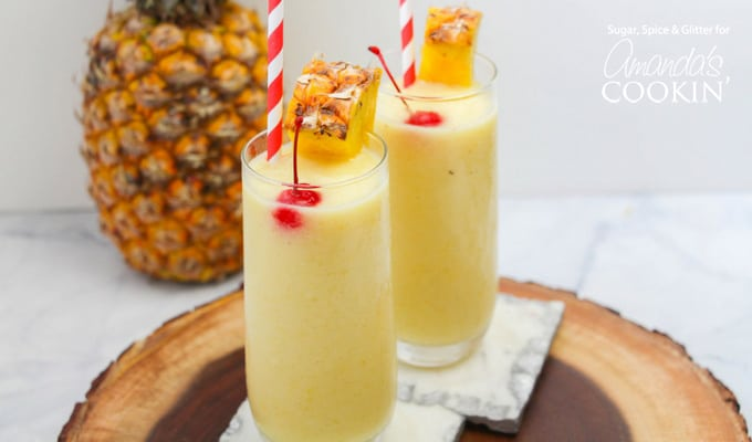 PINEAPPLE RUM SLUSH #pineapple #drink #coktail #margaritas #smoothie