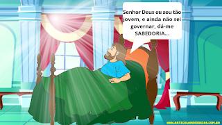 Salomão fala com Deus em sonho
