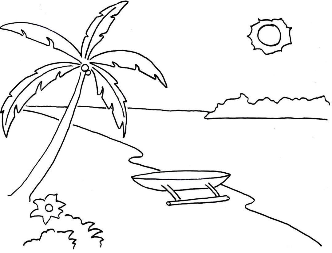 Download Gambar Mewarnai Pemandangan Alam Untuk Anak Sd Dan Tk