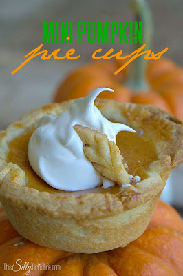 Mini Pumpkin Pie Cups, shared by This Silly Girl's Life