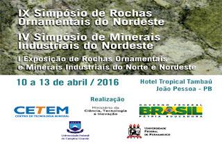 Atividade Mineral de Picuí e Pedra Lavrada será apresentada em Simpósio de Rochas ornamentais do NE