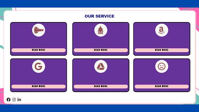 Responsive Services Page For Website Using HTML and CSS....