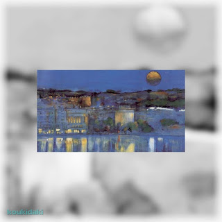 Πίνακας Γιάννη Σταύρου (Θεσσαλονίκη των χρωμάτων, λάδι σε καμβά)