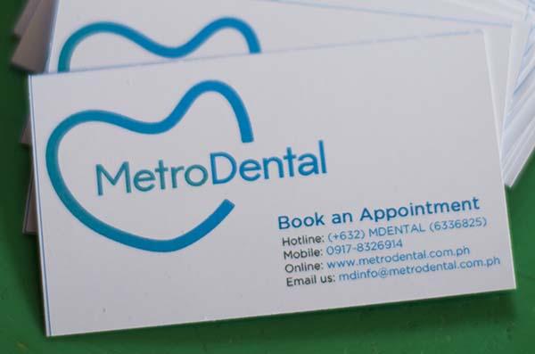 MetroDental promo card