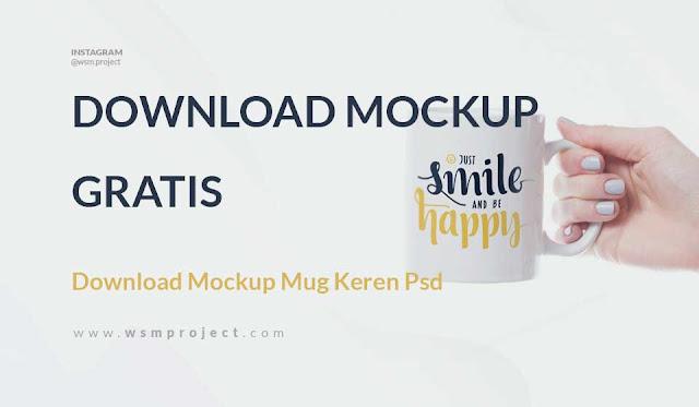 download mockup mug keren psd gratis