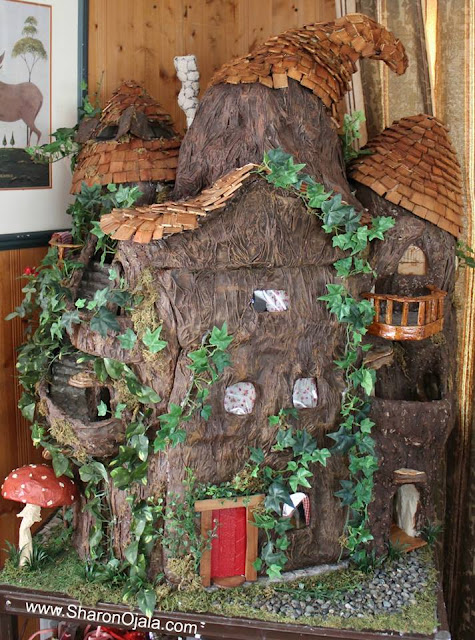handmade gnome home or fairy house