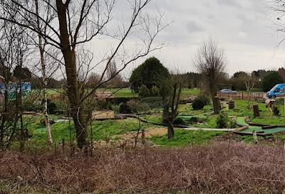 Minigolf at Priory Golf Centre in Wimblington, March