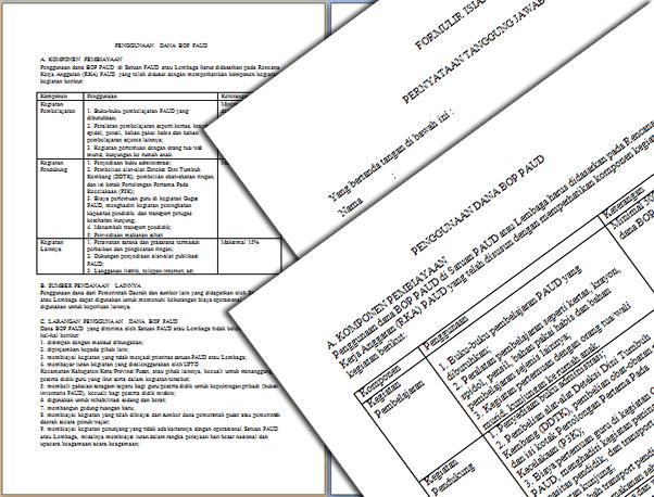 File Pendidikan Format Laporan Penggunaan Dana Bop Paud