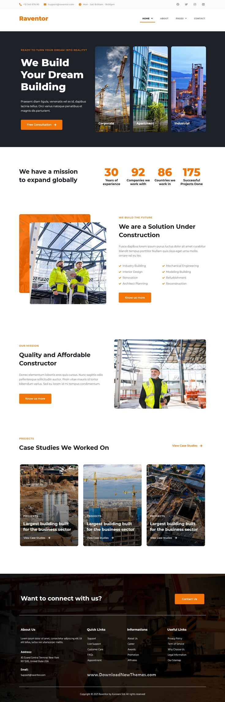 Construction and Architecture Elementor Template Kit