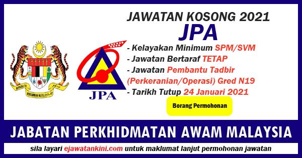 jawatan kosong kerajaan di perkhidmatan awam malaysia