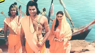arun govil, deepika chikhlia, sunil lahri in ramayan as raam, sita and laxman