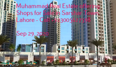 Muhammad Real Estate offering Shops for Sale in Sarshar Town