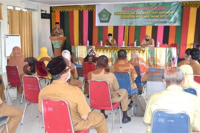 Hari ini, Kankemenag Pidie Jaya Gelar Pembinaan KKG dan MGMP