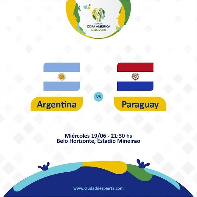 Live Streaming Argentina vs Paraguay Copa America 19.6.2019