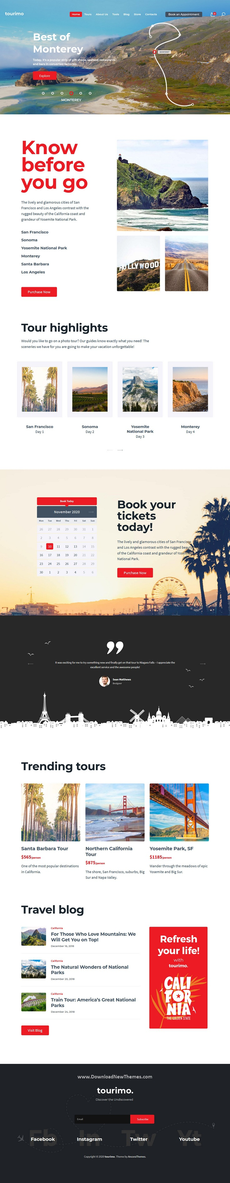 Tour Booking WordPress Theme