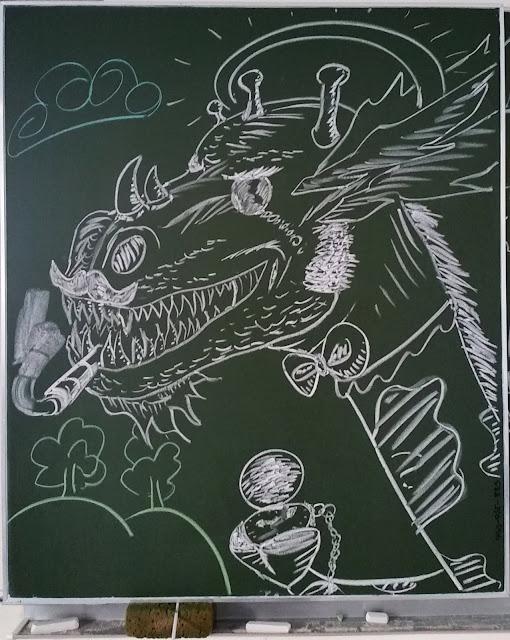 JMJ 2016 dragon au tableau