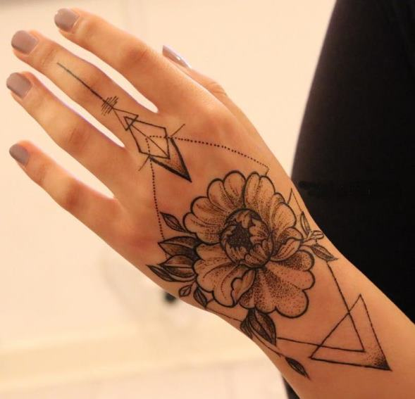 Special Back hand Mehndi Design