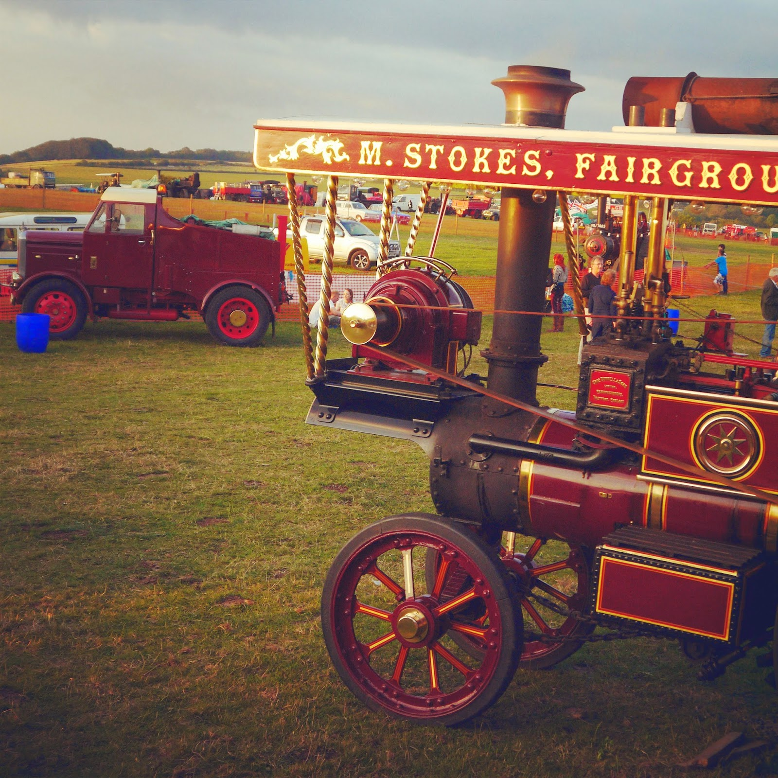 Sunset over the steam rally