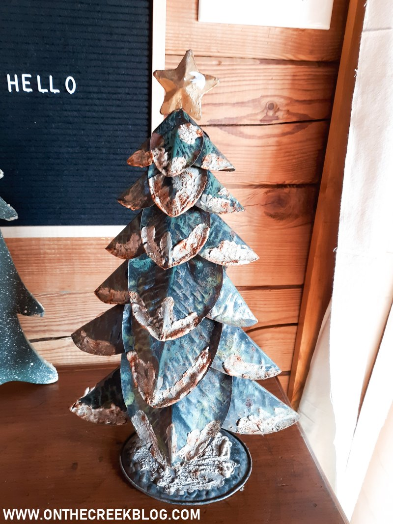 Small metal Christmas tree | On The Creek Blog