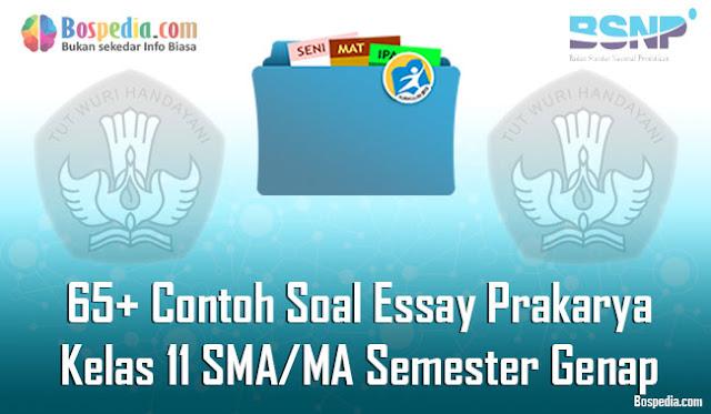 65+ Contoh Soal Essay Prakarya Kelas 11 SMA/MA Semester Genap Terbaru