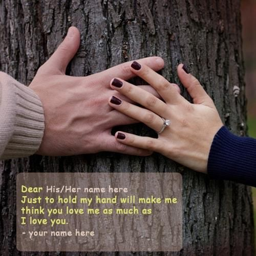Your hand quotes holding Cute Holding
