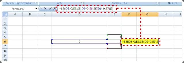 fórmula SE Excel