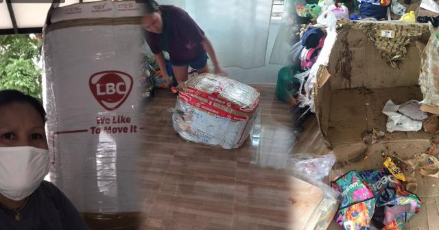 Isang OFW nabiktima ng 'Laslas Balikbayan Box' viral ngayon sa social media!