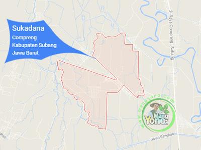 PETA : Desa Sukadana, Kecamatan Compreng