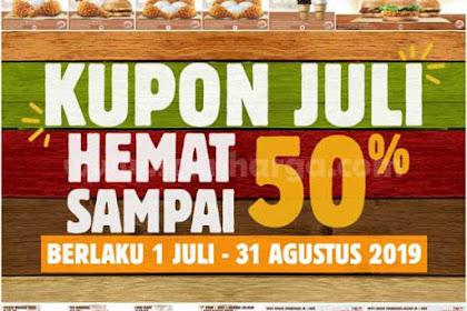 Promo BURGER KING Kupon Hemat Terbaru 1 Juli - 31 Agustus 2019