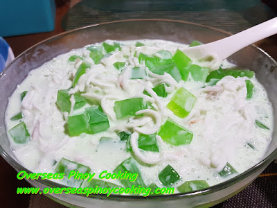Buko Pandan Salad with Pandan Ice Cream Recipe