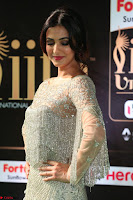 Sonal Chauhan in a stonework Floor Length Silver Designer Gown at IIFA Utsavam Awards March 2017 042.JPG
