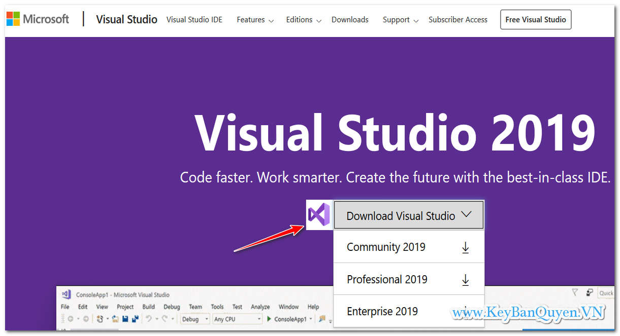 Hướng dẫn tải , cài đặt Visual Studio Pro và Enterprise 2019 Key bản quyền .