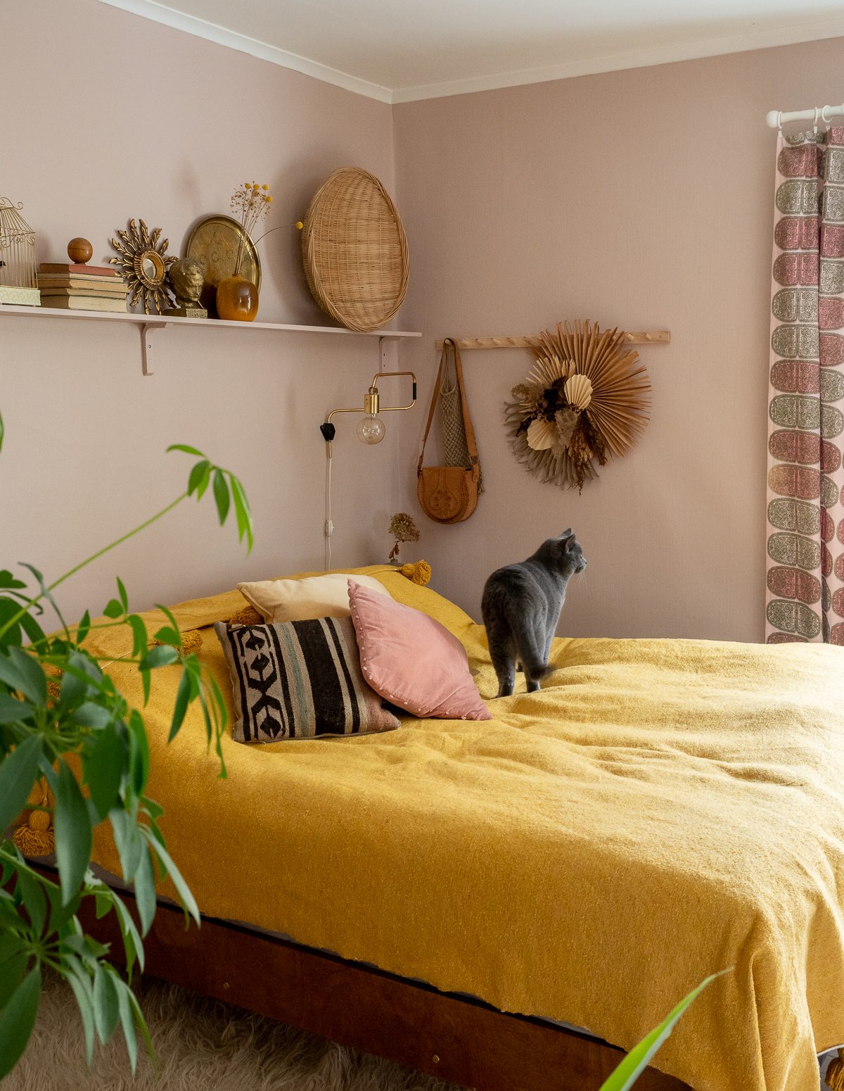 askartele boheemi seinäkoriste luonnonmateriaaleista