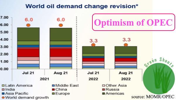 Crude oil demand 21 / 22 OPEC