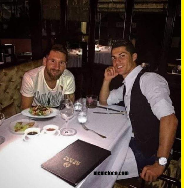 Cristiano y Messi cenando juntos