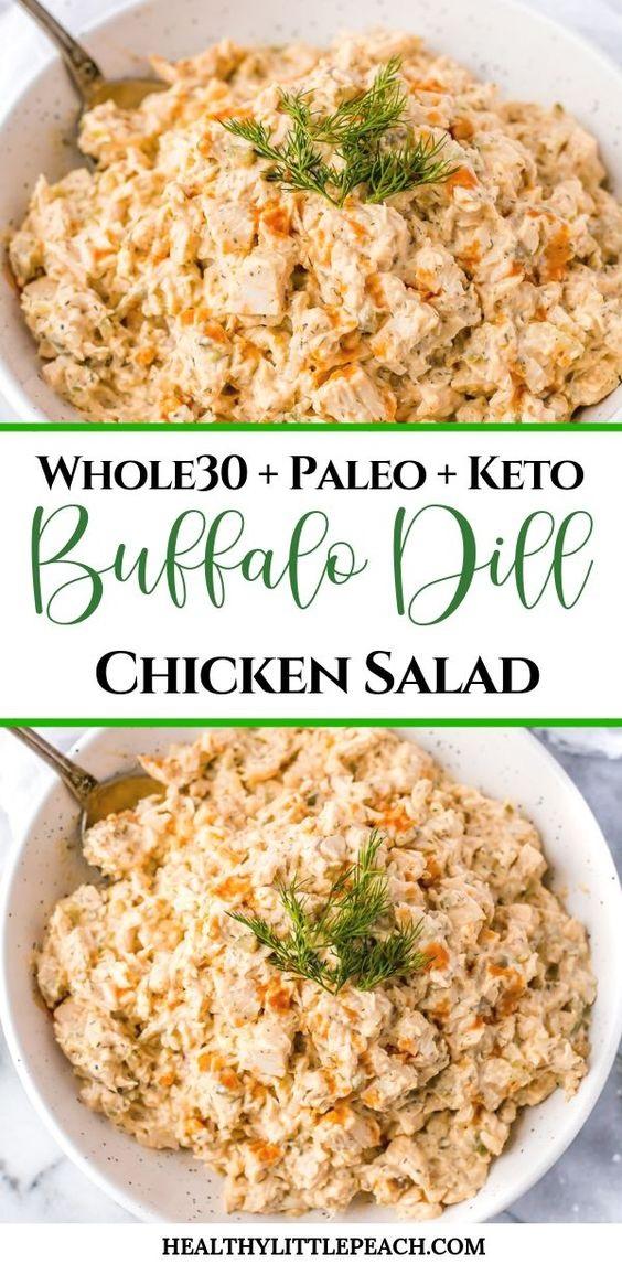 Buffalo Dill Chicken Salad