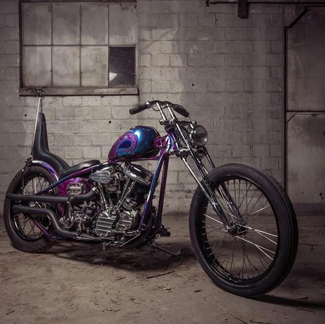 Harley Davidson Panhead By Four Speed Mayhem Hell Kustom