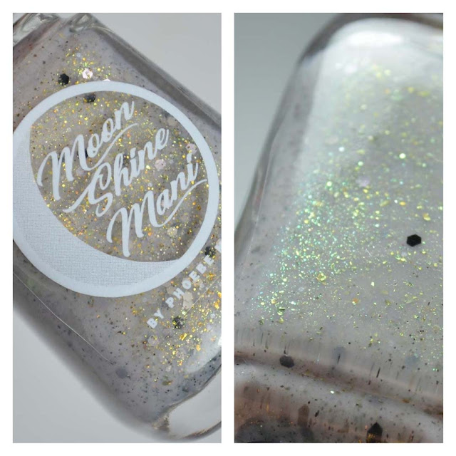grey creme with multichrome flakies and shimmer in a bottle
