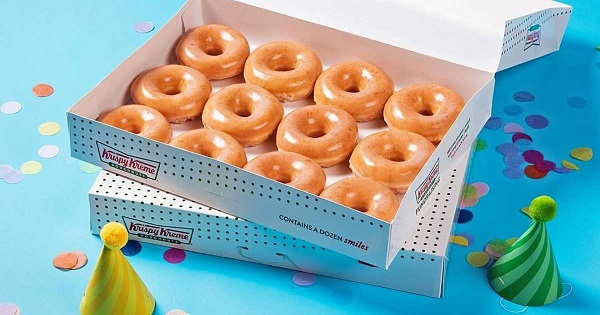 Krispy Kreme celebrating its birthday with dozen doughnuts deal, cake batter-filled treat