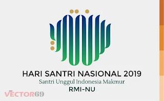 Logo Hari Santri Nasional (HSN) 2019 Santri Unggul Indonesia Makmur RMI-NU - Download Vector File AI (Adobe Illustrator)