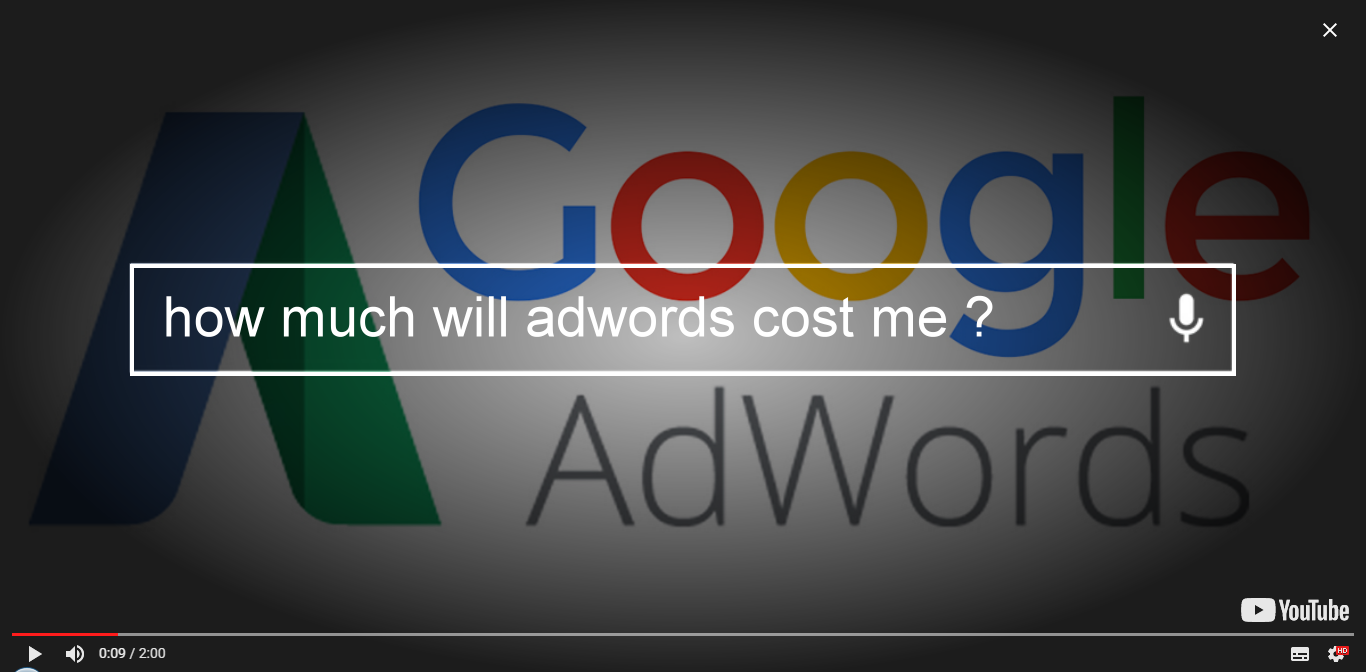 how much will google adwords cost me