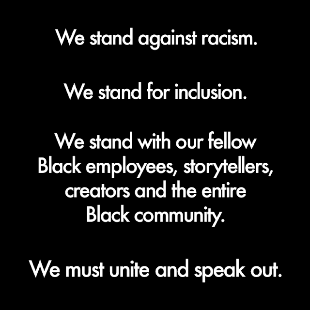 Special Messages from Disney and Pixar, BlackoutTuesday, Black Lives Matter, TheShowMustBePaused
