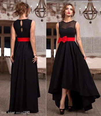 Vestidos de Damas de Honor Color Negros