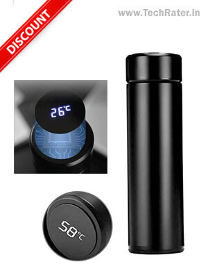 Water Bottle with LED Temperature Display (500ml)